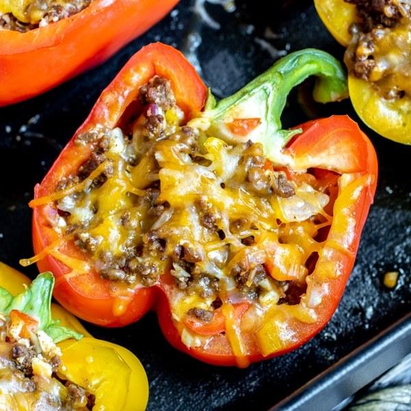 Tonya's Protein Taco Stuffed Peppers