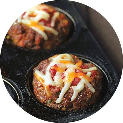 Fiesta Mini Meatloaves