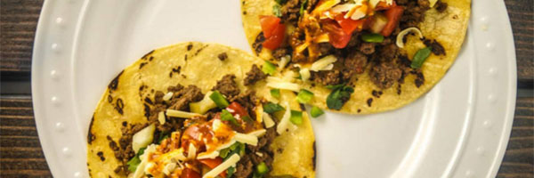 Ancho Chile Ground Beef Tacos